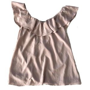 Tops - Ruffle Light Dusty Pink Top